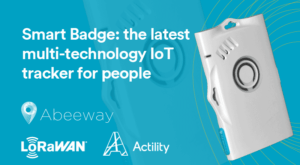 Smart-badge PR image showing Abeeway Smart Badge